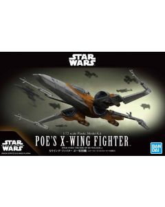 Bandai 5058312 Star Wars Poe's X-Wing Fighter 1/72