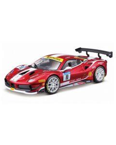 Bburago 26308 Ferrari Racing 488 Challenge #11 - Formula Racing 1/24