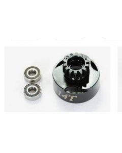 Alpha E63-BU02114 Clutch Bell 14T with vented + Bearing 5x10mm (2pcs)
