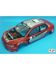 Colt M2331P Painted Body MItsubishi WRC 05 Red 200mm 1/10 No Hole