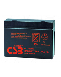 CSB HC1221W Sealed Lead Acid Battery Valved Regulated (AGM Type)