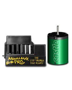 Castle Creations 010-0066-07 Mamba Max Pro Brushless ESC Extreme Combo, 25v, w/ 1406-5700kv Motor