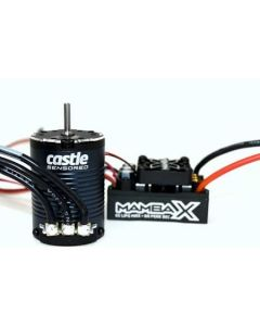 Castle Creations (010015511) Mamba X Brushless ESC, 1406-3800KV Motor, 25.2V WP Crawler Combo