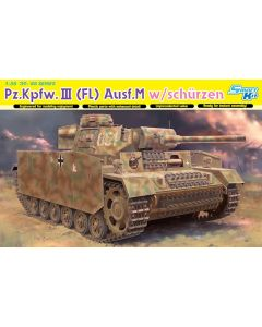 Dragon 6776 Pz.Kpfw.III (FL) Ausf.M w/schurzen 1/35