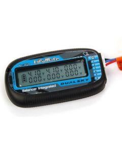 Dualsky LiPoMate, 6 Cell Voltmeter and Balancer, Black