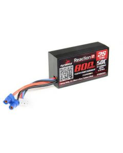 Dynamite DYNB825H2 800mAh 7.4V 2S 50C Hardcase LiPo Battery EC2 Connector, Mini T 2.0 Brushless
