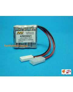 Family Land 5035021/4F NiMh Battery 2850mAh/ 4.8V Flat Pack with Tamiya, Micro Tamiya Connectors