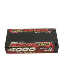 Gens Ace 4000-130C REDLINE 4000mAh 130C 7.6V #58 Hardcase Lipo-HV Battery (4.0mm Bullet)
