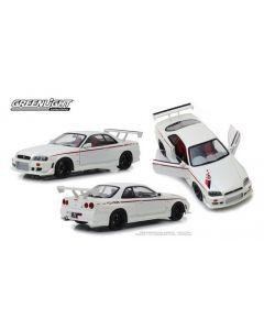 Greenlight 19049 White 1999 Nissan Skyline GT-R (R-34) Artisan Collection 1/18