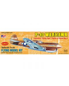 Guillow's 501 P-40 Warhawk 1/30