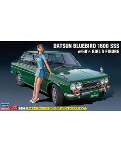 Hasegawa H52277 Datsun Bluebird 1600 SSS w/60's Girl's Figure LIMITED EDITION 1/24