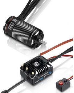 Hobbywing 38020254 AXE550/ 3300KV FOC Sensored, Brushless ESC and Motor Water Proof Combo 1/10