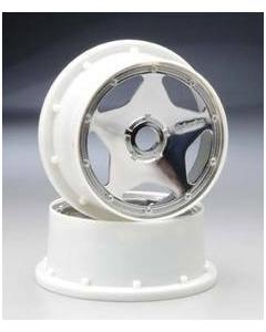 HPI 3224 SUPER STAR WHEEL SHINY CHROME (120x60mm/2pcs) 1/5