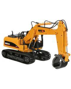 HUINA 1570 2.4G 16CH RC Excavator w/Grapple 1/14