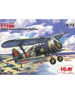 ICM 72012 I-15bis WWII Soviet Biplane Fighter 1/72