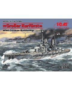 ICM S002 GroBer Kurfurst WWI German Battleship 1/350