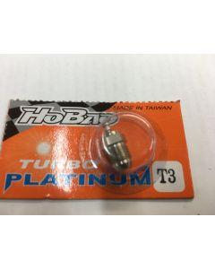Hobao T3 Turbo HOT Platinum plug No3 (For Blue Power Fuel)