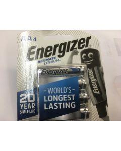 Energizer E91-BP4-4 High Energy 1.5V  Lithium AA Batteries 4pcs