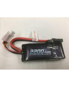 Gens Ace GA2T-2200-50C 2200mAh 50C 7.4V Lipo Battery (Traxxas Plug)