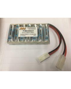 Family Land 5035021-7F NiMh Battery 2850mAh/ 8.4V Flat Pack with Mini Tamiya, Tamiya Connectors