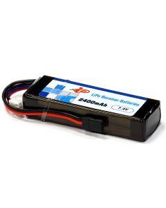 Intellect 2400-2S-W1 Lipo Receiver Battery 2400mAh /7.4V JR/ Hitec  black plug