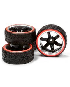 Integy Alloy 6-Spoke Wheel Drift Tire 3 Offset (4) O.D.=64mm1/10