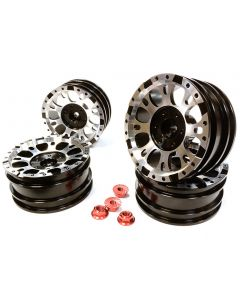 Integy 25339BLACK Realistic 1.9 Size X8U Alloy Wheel (4) + M4 Nut for Scale Off-Road Crawler 1/10