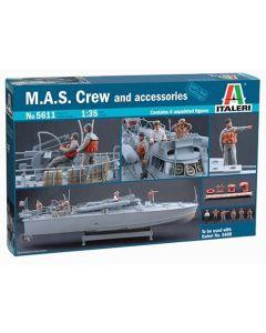 Italeri 5611 M.A.S. Crew and Accessories 1/35