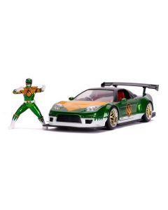 Jada 31909 Green Ranger w/2002 Honda NSX Type R Japan Sped Power Rangers Hollywood Rid 1/24