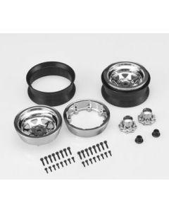 "Jconcepts 3389B Colt 1.9"" beadlock wheel w/ cap - (black) - 2pcs 1/10"