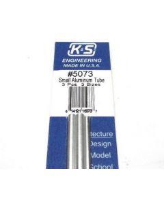 K&S 5073 ALUM TUBE 3/32in. 1/8in & 5/32in  Bendable (3pcs/ length 12in.)