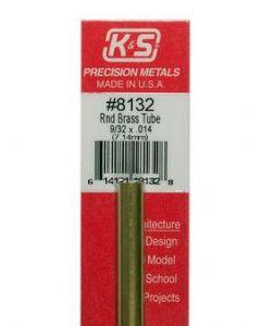 K&S 8132 Round Brass Tube 9/32 x .014 (7.14mm) 1pc
