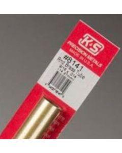 K&S 8141 Round Brass Tube 9/16 x .014 (14.29mm) 1pc