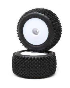 Losi LOS41013 Rear Mounted Pin Tyres, White, 2pcs, Mini-T 2.0  1/16