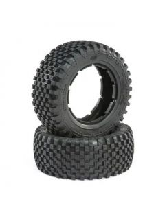 Losi LOS45023 Tire Set, Firm (2),  5ive-T 2.0  1/5