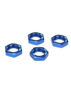 Losi LOSB3227 Wheel Nuts, Blue Anodized (4): 5IVE-T