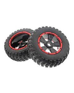 Losi LOS45004 Left & Right Tire (1ea), Premounted: 1:5 4WD DB XL