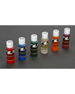 Losi TLR74021 Silicone Shock Oil 2oz 6pk, 50, 60, 70, 80, 90, 100wt