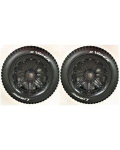 Louise LT3245B  B-Viper  Rear Wheel and Tyre Mounted 1/5 2pcs