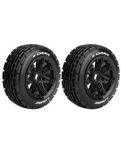 Louise LT3265B B-Orbit 1/5 Buggy Front Tire Sport/ Black Rim Hex 24mm for HPI Baja (2pcs)