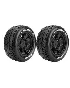 Louise LT3295B Traxxas X-Maxx MT Tire w/Sport/ Black Spoke Rim Hex 24mm (2pcs) 1/5