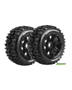 Louise LT3243B B-Pioneer 1/5 Buggy Rear Wheel and Tyre With Insert Mounted (Baja) 2pcs