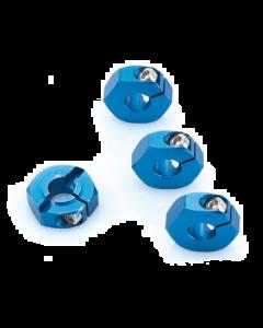 LRP 122503  Aluminum Wheel Adapter blue (4pcs) - S10
