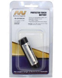 Master Instruments TB-20700IC42 3.7V 4250mAh 20700 size Protected Li-Ion Torch Battery