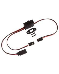 Muchmore MR-RSB  Reciever Switch Harness w/Charge Connector (JR/Futaba)