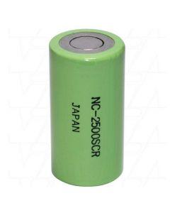 Family land NC-2500SCR Panasonic Nicd Sub C Battery 1.2V 2500mAh