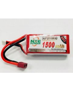 NXE 3S1500 Lipo Battery 11.1V 1500mAh 30C Soft case w/Deans (Compatible azsa1731)