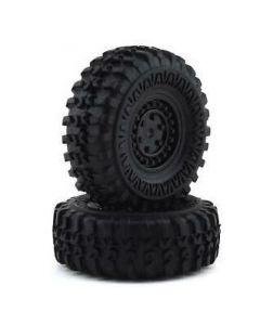 Panda Hobby BC636046 Tyres and Wheels, Mounted and Glued, 2pcs, Tetra X1  1/18