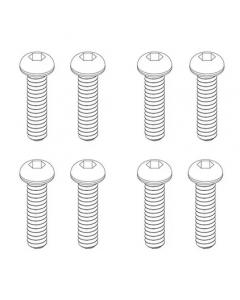 Panda Hobby C636077 Button Head Screws 2x10mm, 8pcs, Tetra X1