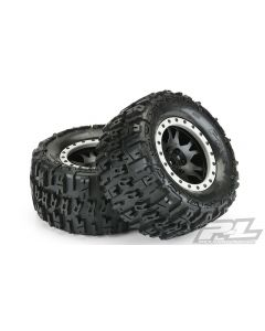 """PROLINE 10151-13 Trencher 4.3"""" Pro-Loc All Terrain Tires Mounted (2pcs) 1/7"""